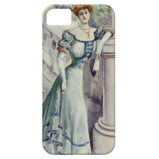 Victorian Lady – Vintage French Fashion–Blue Dress iPhone SE/5/5s Case