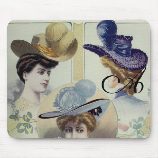 Victorian Lady – Vintage French Fashion –Hats Mouse Pad