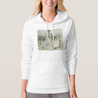 Victorian Lady – Vintage French Fashion –Lavender Hoodie