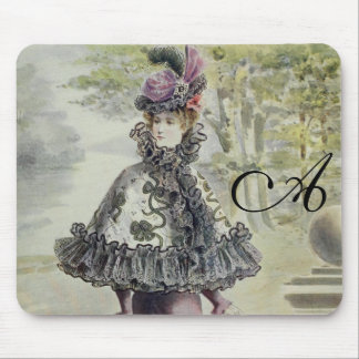 Victorian Lady – Vintage French Fashion-Pink Dress Mouse Pads