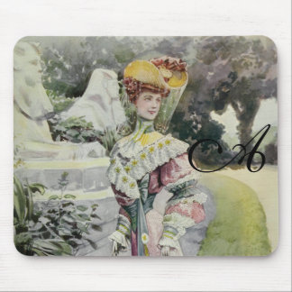 Victorian Lady – Vintage French Fashion – Red Dres Mouse Pads
