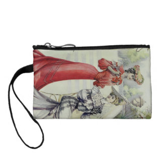 Victorian Lady – Vintage French Fashion –Red Dress Coin Purse