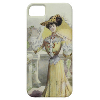 Victorian Lady–Vintage French Fashion-Yellow Dress iPhone SE/5/5s Case