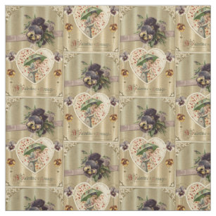 Vintage Valentine Fabric Zazzle