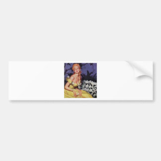 Victorian Lady Waiting on Bench Bumper Sticker