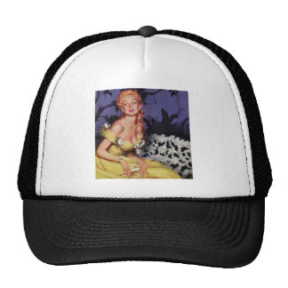 Victorian Lady Waiting on Bench Trucker Hat