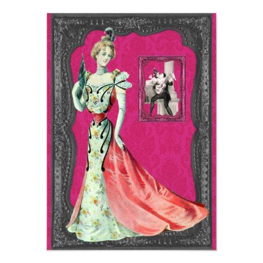 Victorian Lady Wedding Invitations