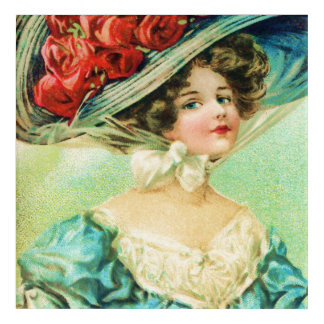 Victorian Lady with Beautiful Hat Acrylic Wall Art