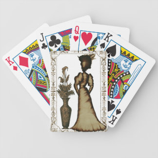Victorian Lady with Feathered Hat Bicycle Playing Cards