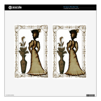 Victorian Lady with Feathered Hat Decals For Kindle Fire