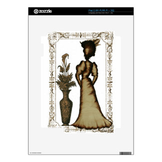 Victorian Lady with Feathered Hat Decals For The iPad 2