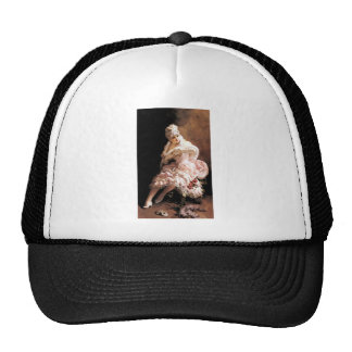 Victorian Lady with flowers and mask painting Trucker Hat