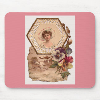 Victorian Lady With Hat Mouse Pad
