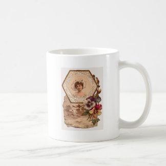 Victorian Lady With Hat Coffee Mug