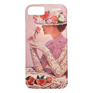 Victorian Lady with Rose iPhone 7 Case
