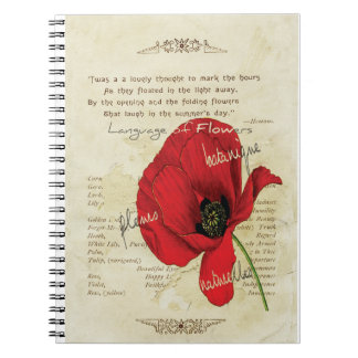 Victorian Language of Flowers Notebook