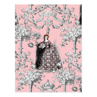 Victorian Lass on Dauphine Pink Postcard