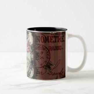 Victorian Letters Two-Tone Coffee Mug