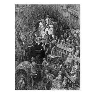 Victorian London - A City Throughfare Postcard