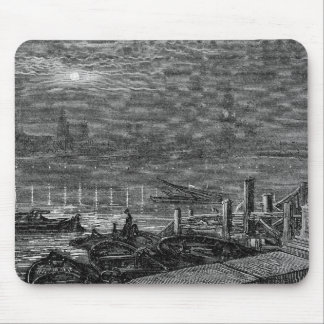 Victorian London - Houses of Parliament by Night Mouse Pad