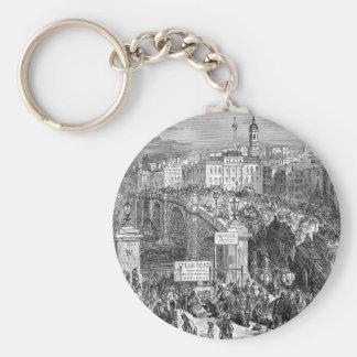 Victorian London -  London Bridge 1872 Keychain