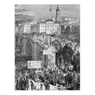 Victorian London -  London Bridge 1872 Postcard