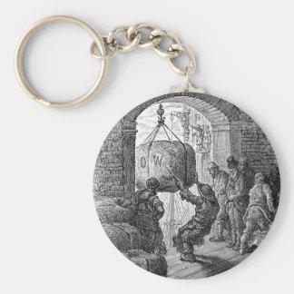 Victorian London - Porters at Work Basic Round Button Keychain