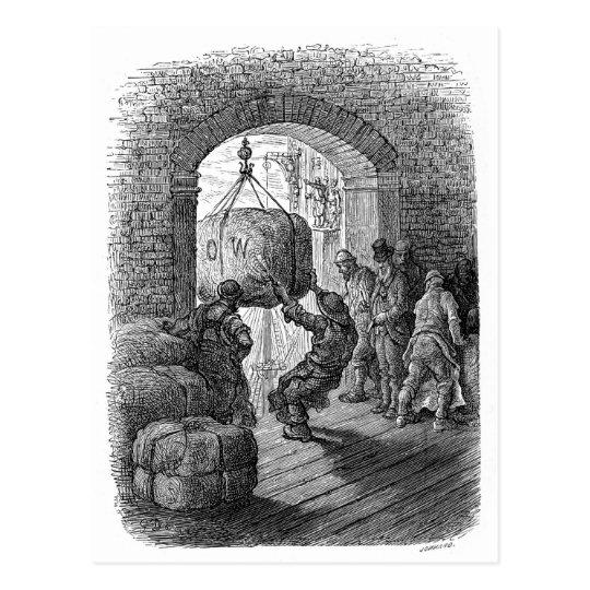 Victorian London - Porters at Work Postcard