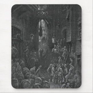 Victorian London - River Side Street Mouse Pad
