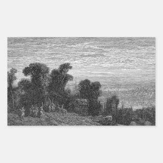 Victorian Londres - brezo de Hampstead Rectangular Pegatina