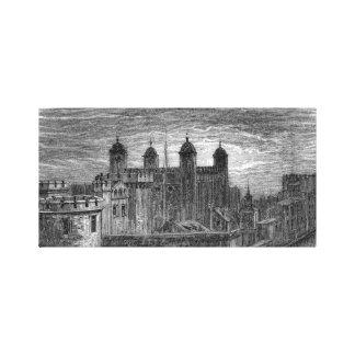 Victorian Londres - torre de Londres Lienzo Envuelto Para Galerías