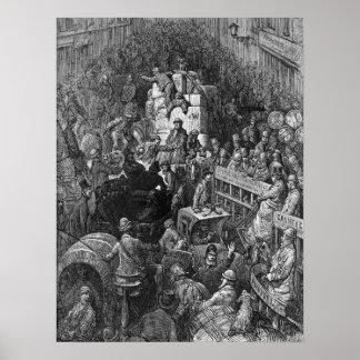 Victorian Londres - una ciudad Throughfare Impresiones