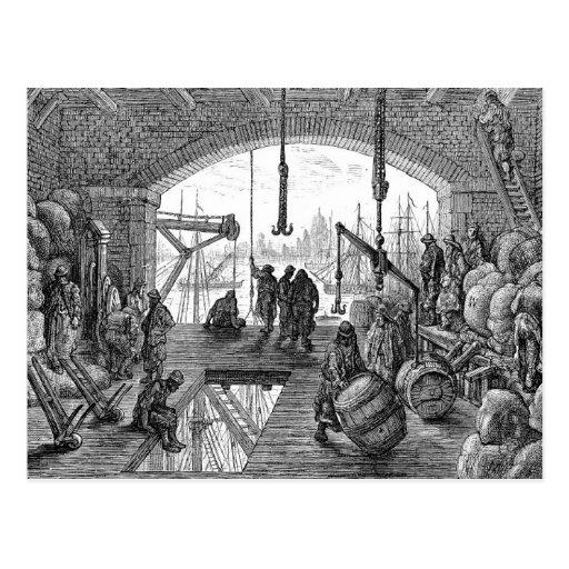 Victorian Londres - Warehouse por el Thames Postal