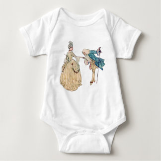 Victorian Lord And Lady Illustration Baby Bodysuit