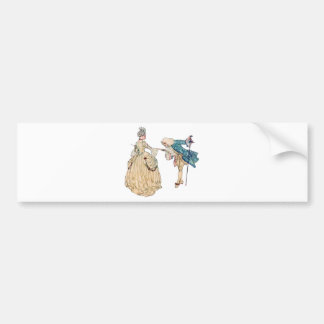 Victorian Lord And Lady Illustration Bumper Sticker