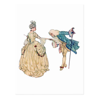 Victorian Lord And Lady Illustration Postcard