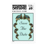 Victorian Love Birds Save the Date Postage