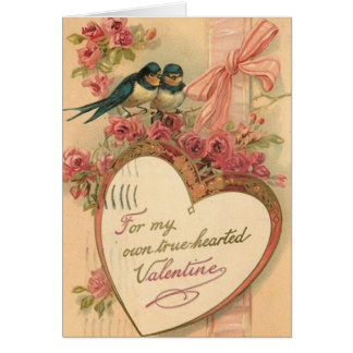Victorian Love Birds Valentine's Day Card