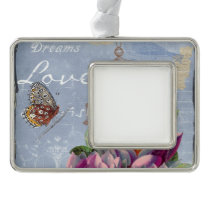 Victorian Love Thoughts Dreams Butterfly Bird Cage Christmas Ornament