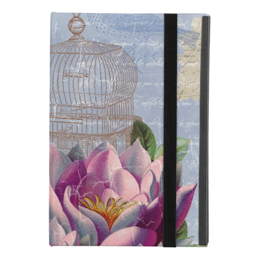 Victorian Love Thoughts Dreams Butterfly Bird Cage iPad Mini 4 Case