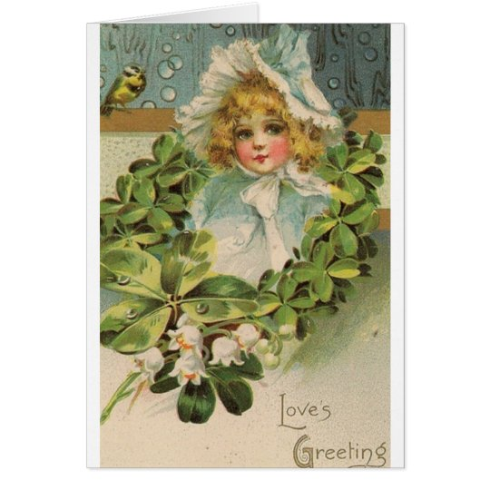 Victorian Love's Greeting Valentine's Day Card