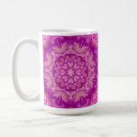 Victorian magenta y rosado floral taza de café