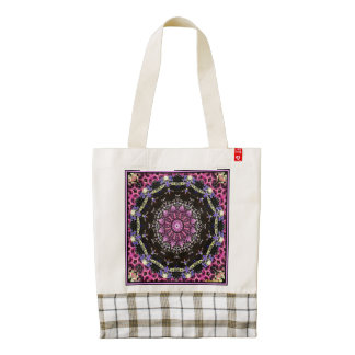 Victorian Magenta Zazzle HEART Tote Bag