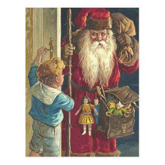 Victorian magnífico Santa de la postal del navidad