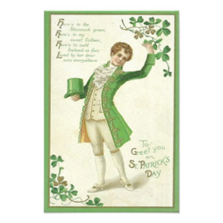 Victorian Man Shamrock Green Top Hat Photo Print