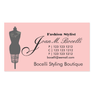 Victorian Mannequin  Fashion Double-Sided Standard Business Cards (Pack Of 100)
