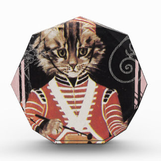 Victorian Marching Cat Drummer Boy Drum Award