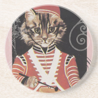 Victorian Marching Cat Drummer Boy Drum Coaster
