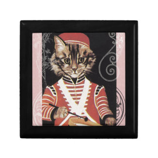 Victorian Marching Cat Drummer Boy Drum Gift Box
