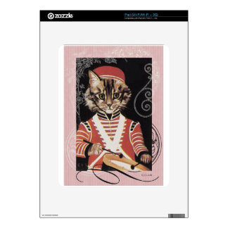 Victorian Marching Cat Drummer Boy Drum iPad Decal